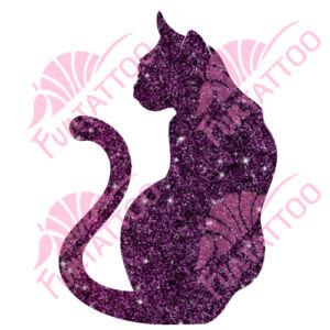 Cica csillámfestő sablon