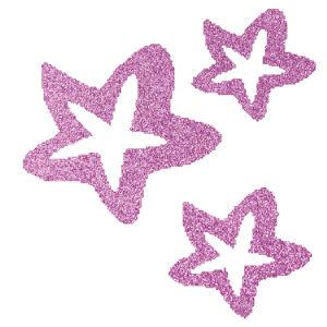 Csillagok 1 csillámfestő sablon