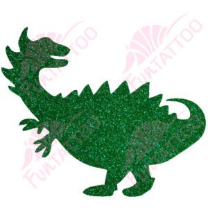 Dino  csillámfestő sablon