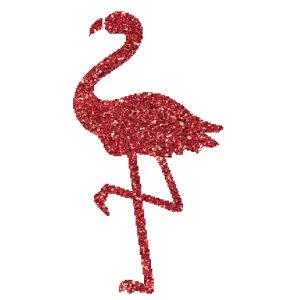 Flamingó  csillámfestő sablon