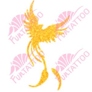 Főnix  csillámfestő sablon