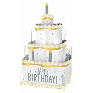 Happy Birthday Arany Ezüst asztali dekoráció