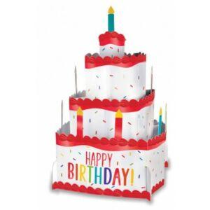 Happy Birthday Színes asztali dekoráció