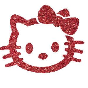 Hello Kitty 4 csillámfestő sablon