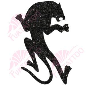 Leopárd csillámfestő sablon