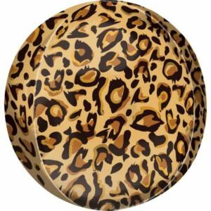Leopárd mintás Gömb fólia lufi