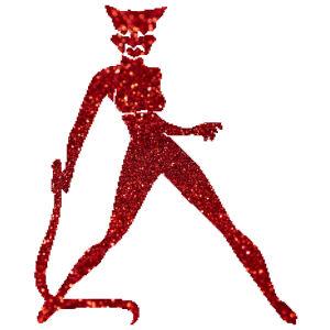 Macskanő csillámfestő sablon