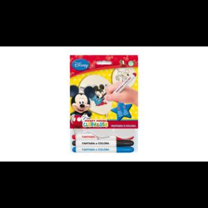 Színezhető Mickey gumi léggömb 3 db filccel