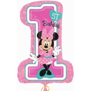 Disney Minnie Első születésnap Fólia lufi 71 cm