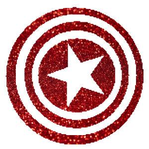 Amerika kapitánya pajzs csillámfestő sablon