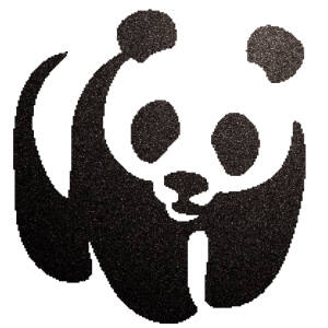 Panda csillámfestő sablon