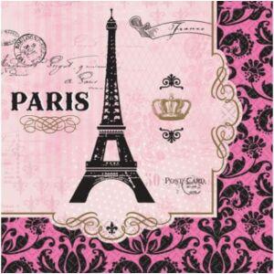 Paris, Párizs szalvéta