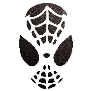 Pókember csillámfestő sablon
