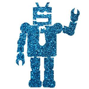 Robot csillámfestő sablon