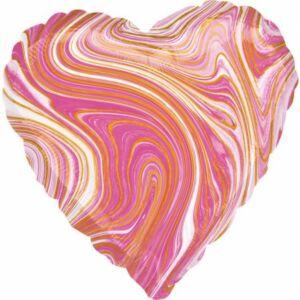 Rózsaszín Szív Fólia lufi