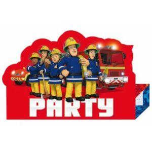 Sam a tűzoltó Party Meghívó