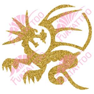 Sárkány 2 csillámfestő sablon