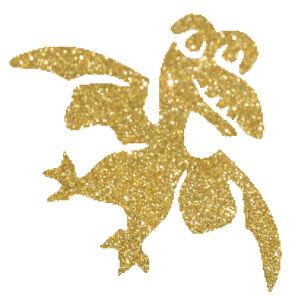Sárkány 6 csillámfestő sablon