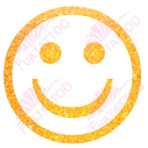 Smile csillámfestő sablon