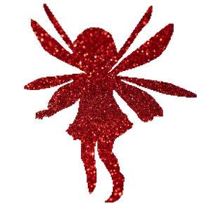 Szárnyas kislány csillámfestő sablon