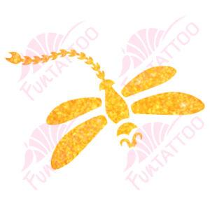 Szitakötő csillámfestő sablon