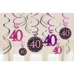 Happy Birthday 40 Szalag dekoráció