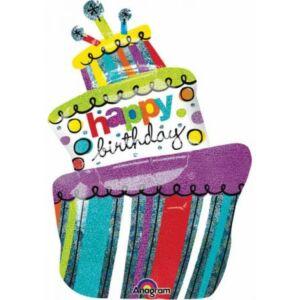 Happy Birthday Cake Fólia lufi
