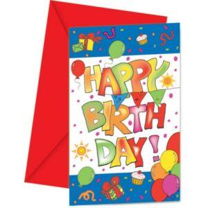 Kokliko Happy Birthday Meghívó