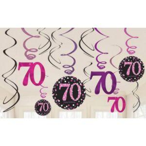 Happy Birthday 70 Szalag dekoráció