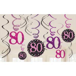 Happy Birthday 80 Szalag dekoráció