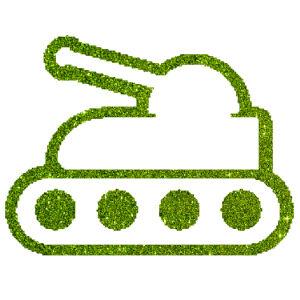 Tank 1 csillámfestő sablon