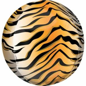 Tigris csíkos Gömb fólia lufi