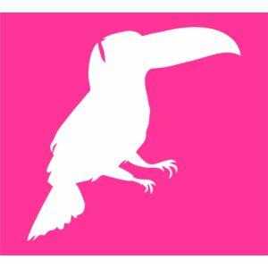 Trópusi madár csillámfestő sablon