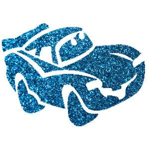 Autó csillámfestő sablon