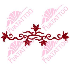 Virágkarkötő csillámfestő sablon