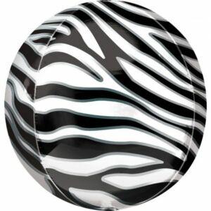 Zebra mintás Gömb fólia lufi
