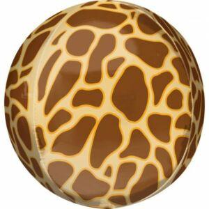 Zsiráf mintás Gömb fólia lufi