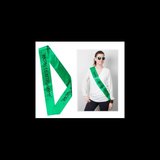 Vállszalag Boldog Születésnapot, zöld