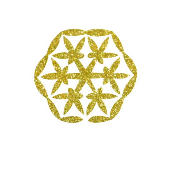 Fraktál csillámfestő sablon