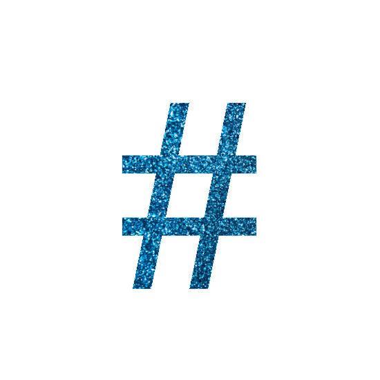 Hashtag csillámfestő sablon