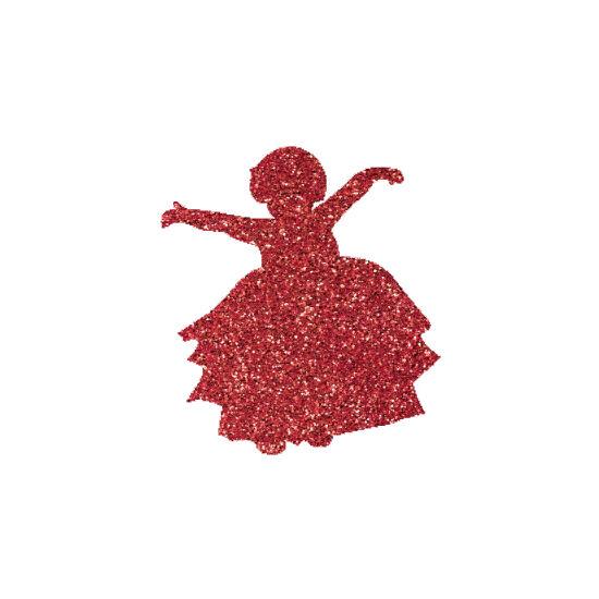 Kislány 4 csillámfestő sablon