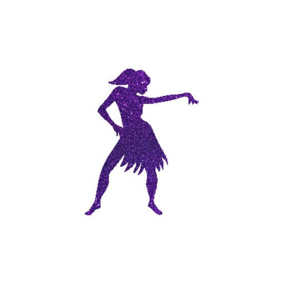 Táncoslány 2  csillámfestő sablon