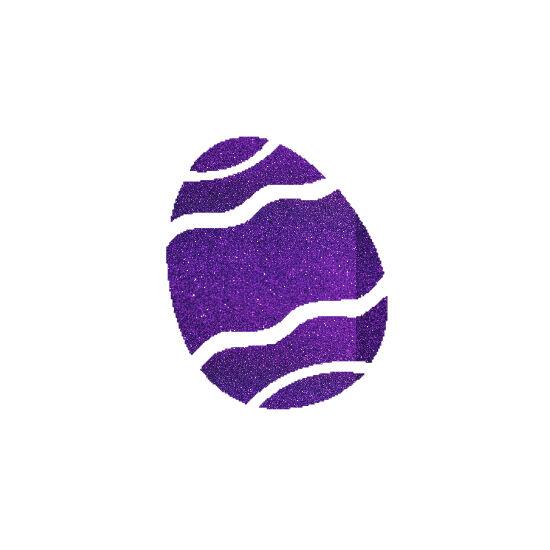 Húsvéti tojás csillámfestő sablon