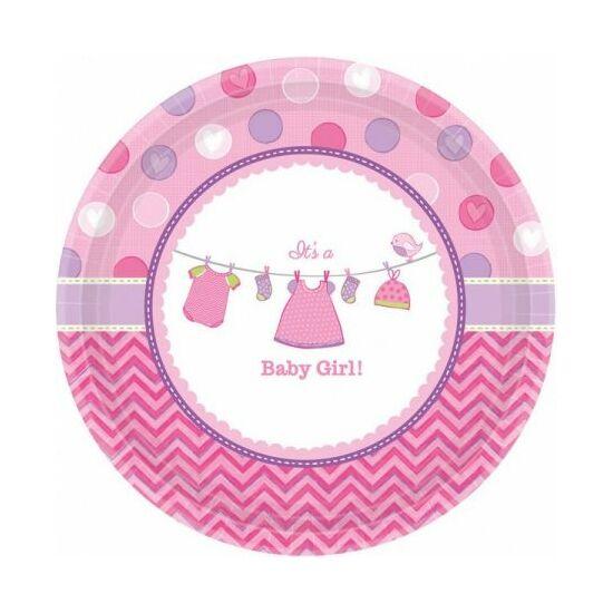 Baby Girl Papírtányér