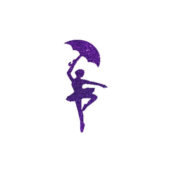 Esernyős lány csillámfestő sablon