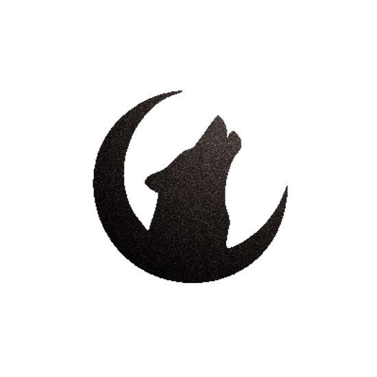Farkas csillámfestő sablon