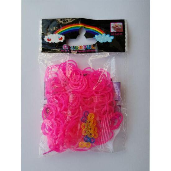 Rózsaszín gumigyűrű