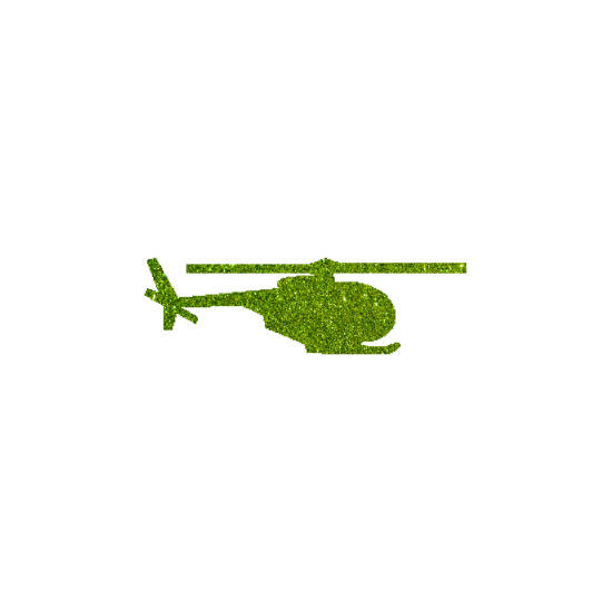 Helikopter csillámfestő sablon