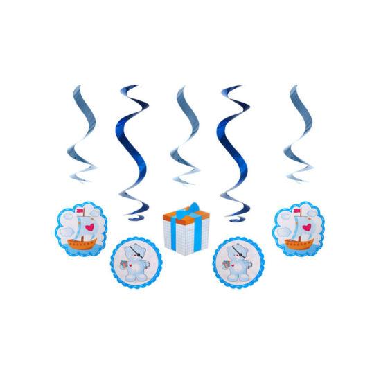 Kék macis függő dekoráció