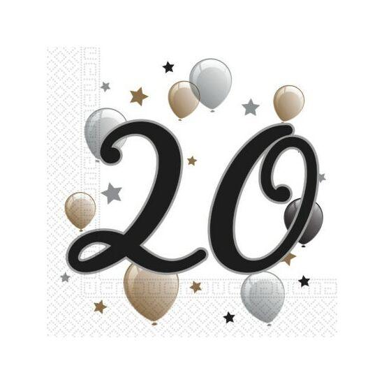 Milestone, Happy Birthday 20 szalvéta